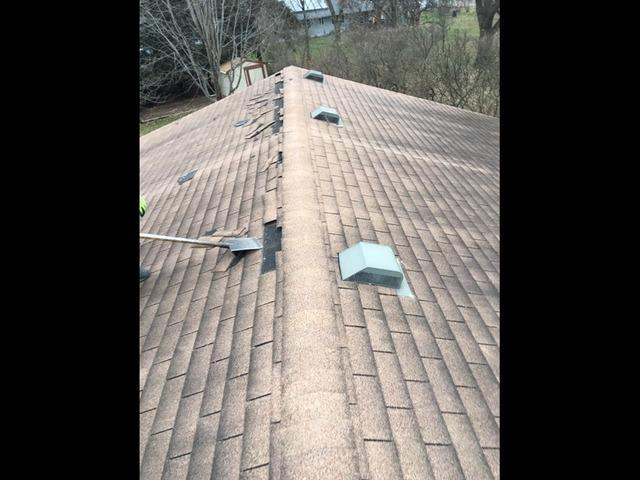 New Roof Install In McFarland, WI - Before Photo