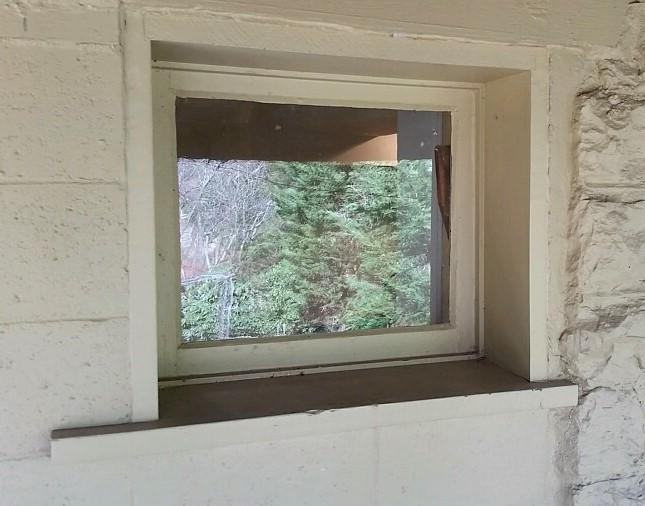 Glass Block Window Installation in Pittsburgh, PA - Before Photo