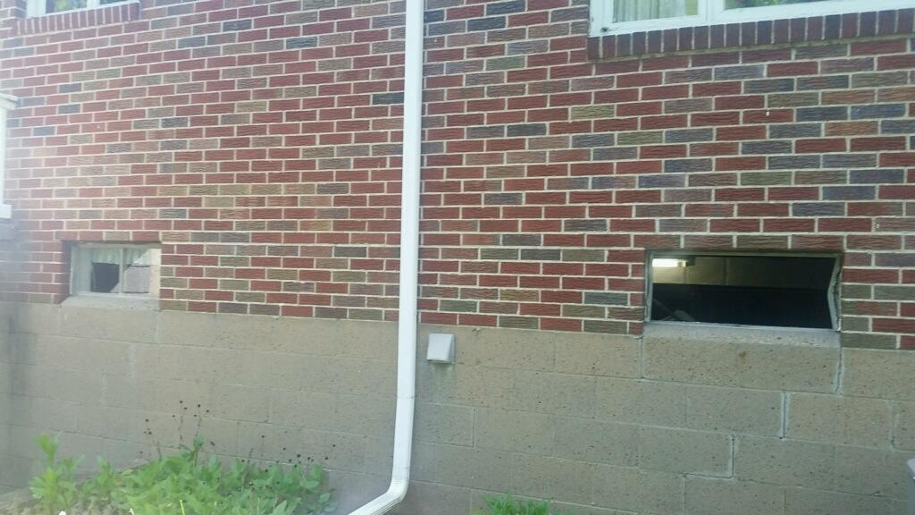 Basement Window Installation in West Mayfield, PA - Before Photo