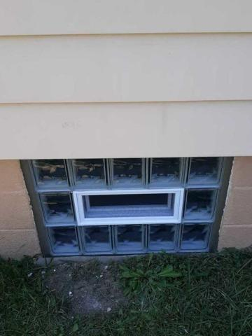 Basement Glass Block Window with Vent in Baden, PA