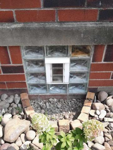 Basement Glass Block Windows with Vent installation in Pittsburgh - Before Photo