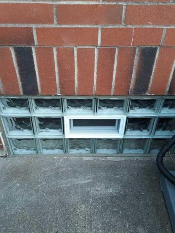 Basement Glass Block Windows with Vent installation in Pittsburgh, PA - After Photo