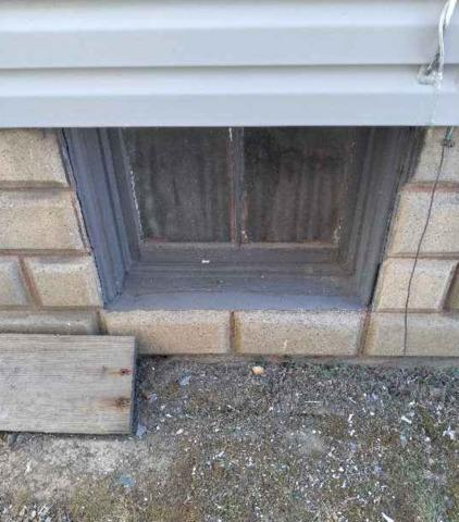 Wave Glass Block Window Installation with a Vent in Rochester, PA