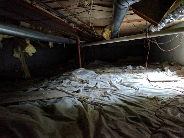Crawlspace Insulation in Oskaloosa, KS - Before Photo