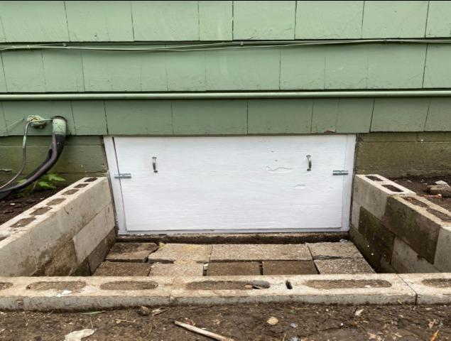 Crawl Space Door Remodel in Overland Park, KS