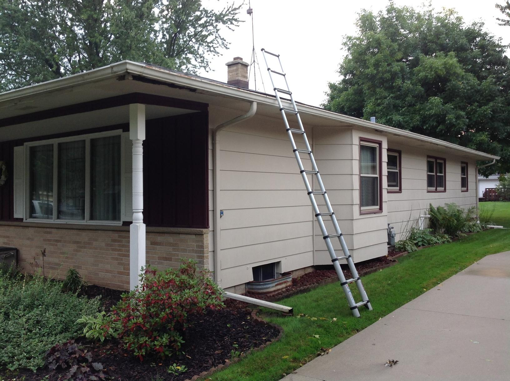 LeafGuard Gutters Installed in Sheboygan - Before Photo