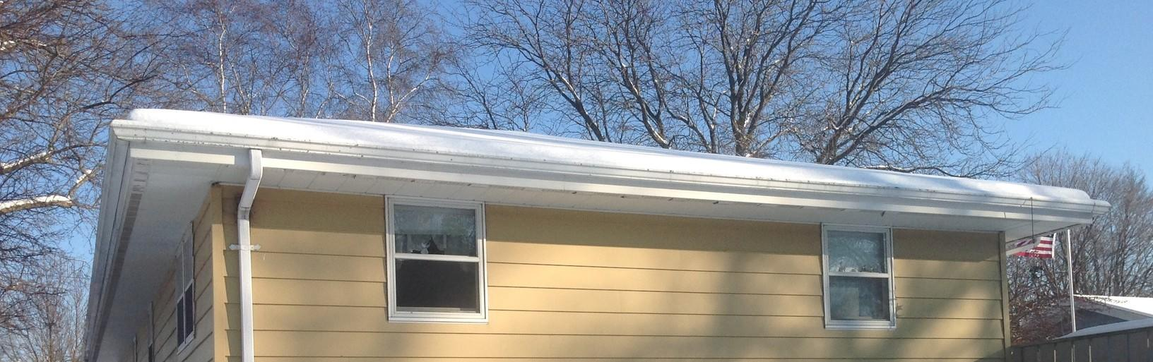 LeafGuard Gutters Installed in Howards Grove - Before Photo