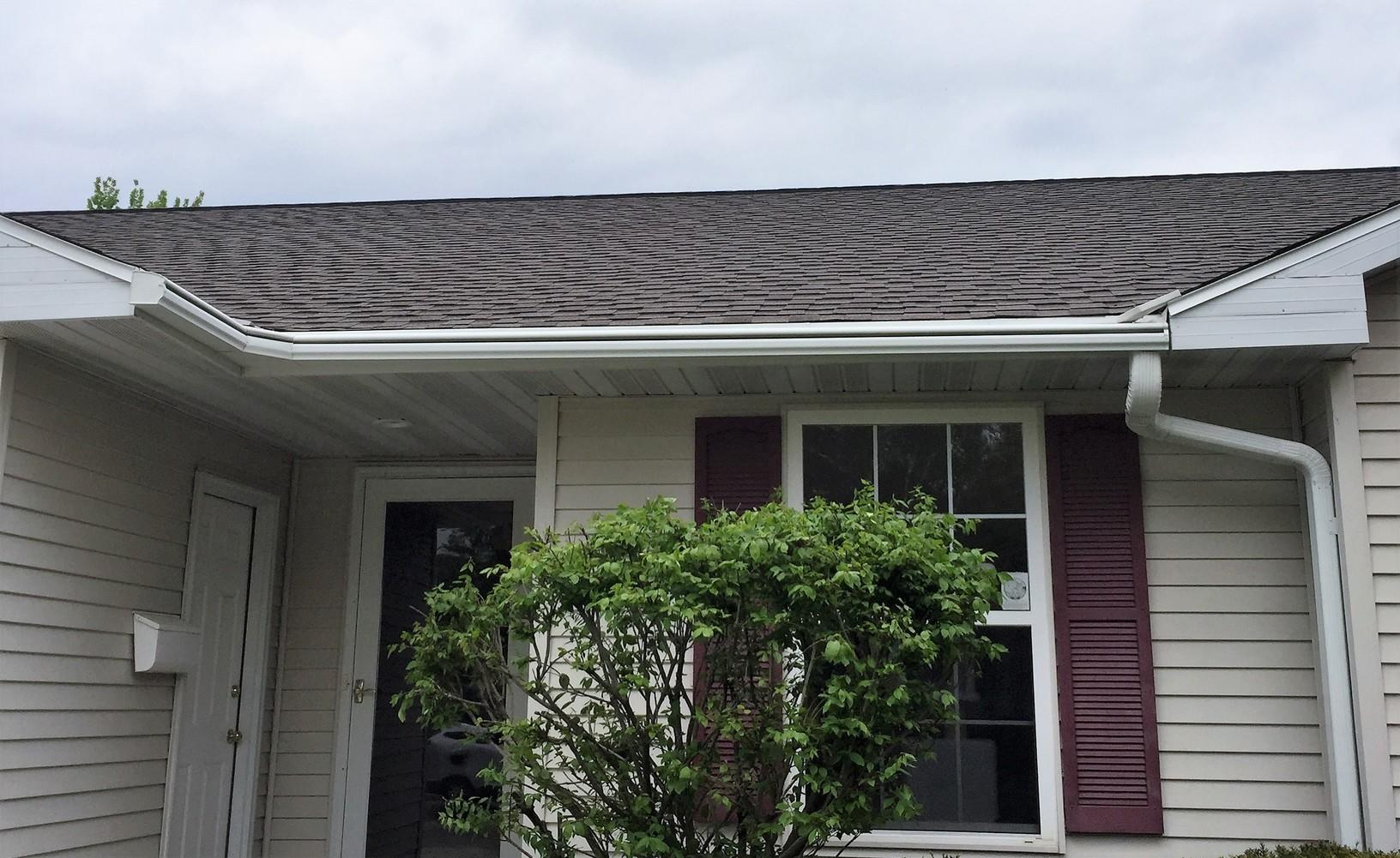 New GAF Timberline Roof and LeafGuard Gutters Installed on home in Allouez, WI - After Photo