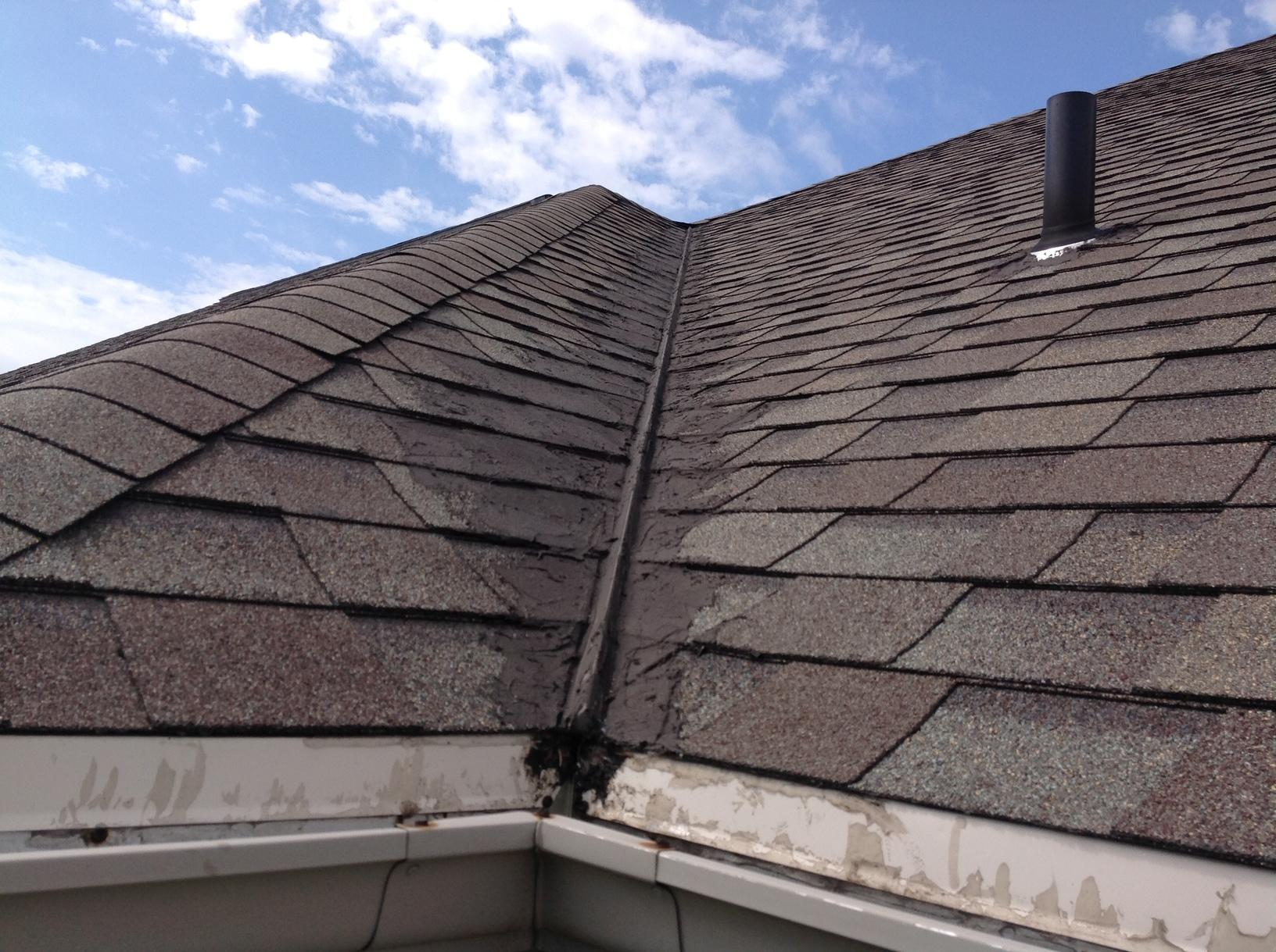 New GAF Timerline Ultra HD Roof installed in DePere, WI - Before Photo