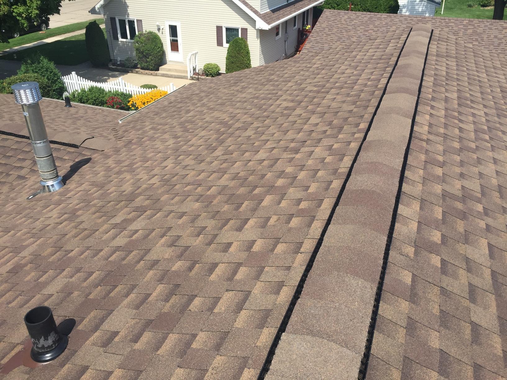 GAF Master Elite Asphalt Shingle Roof on Home in Kimberly, WI - After Photo