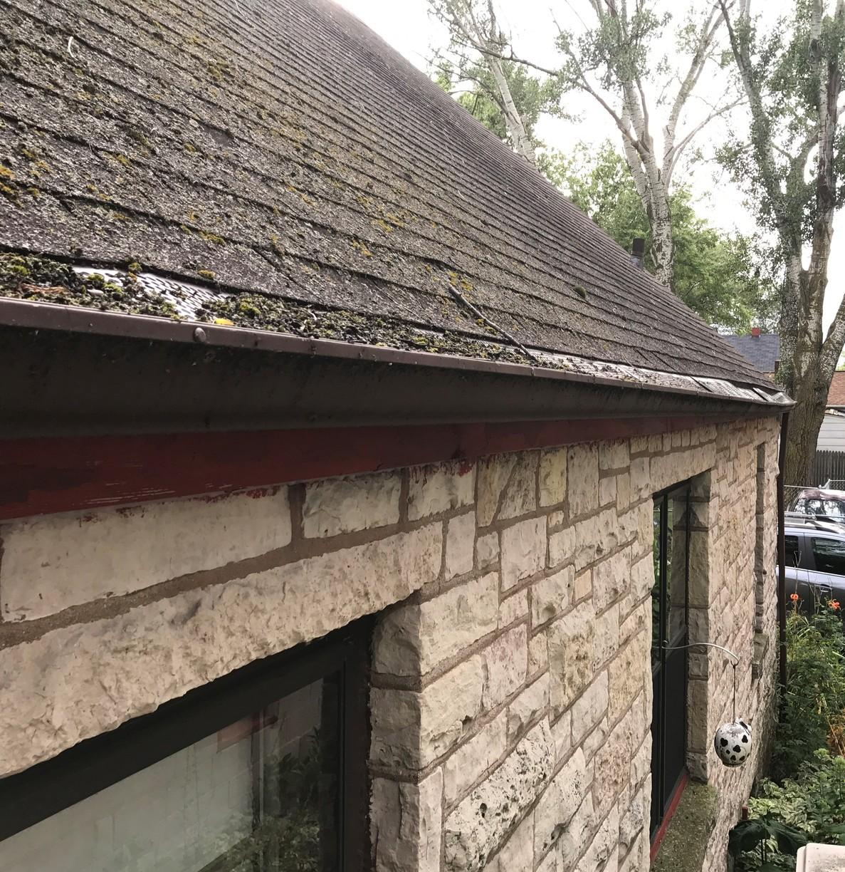 GAF Roof and LeafGuard Gutters Installed in Depere, WI - Before Photo