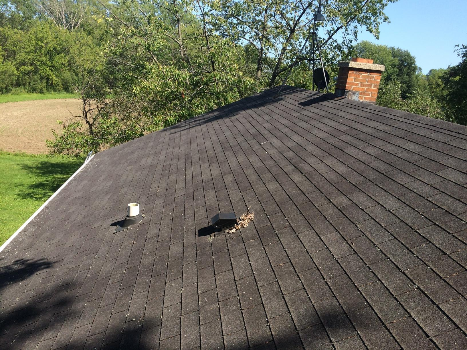 Replace Roof with GAF Timberline Asphalt Shingles in Newton, WI - Before Photo