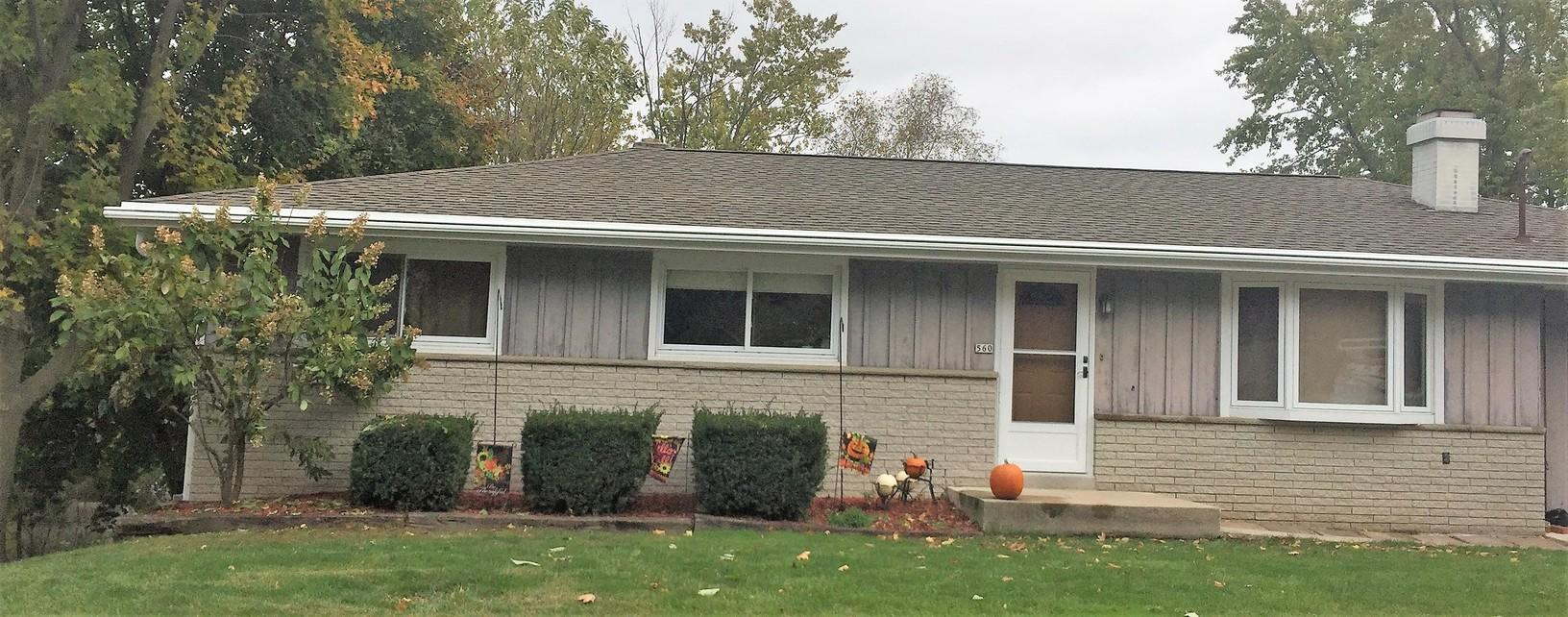 LeafGuard Gutters Installed on a Ranch Home in Random Lake, WI - After Photo