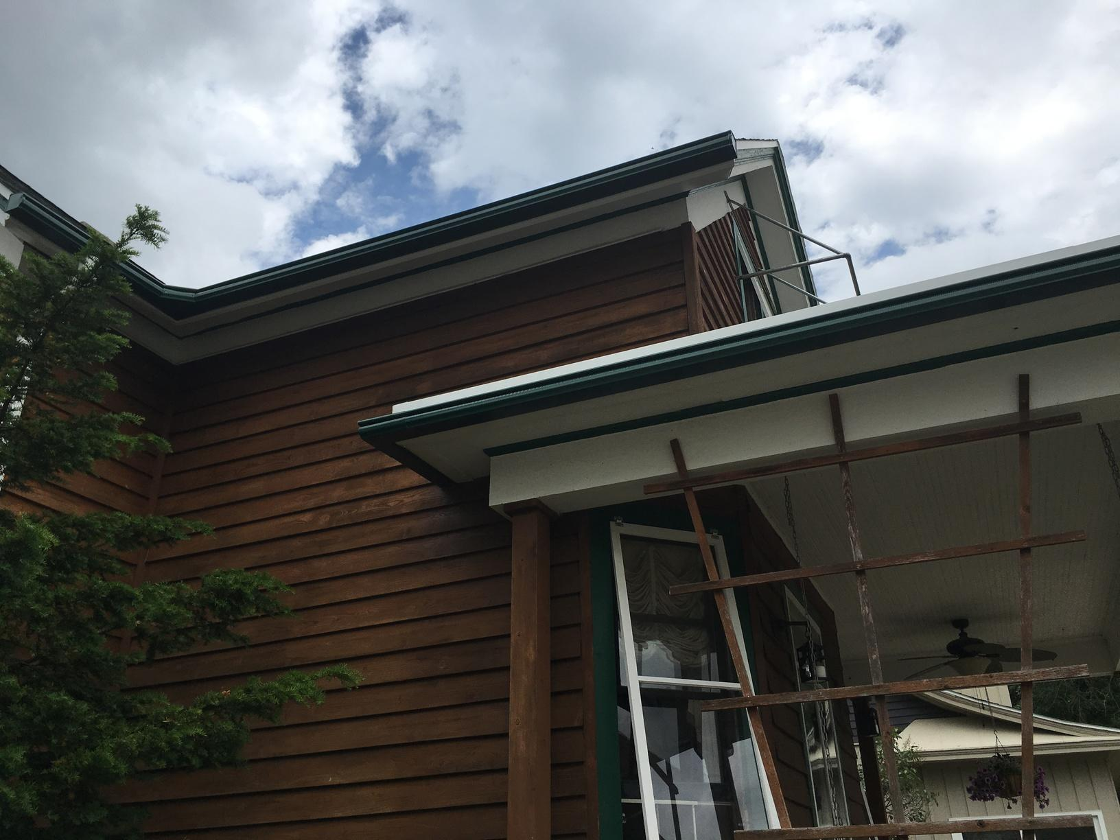 Dark Green LeafGuard Gutters Installed on a Home in Sheboygan, WI - After Photo