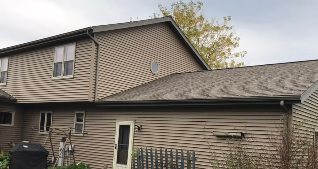Tom's LeafGuard Gutter Project - Before Photo