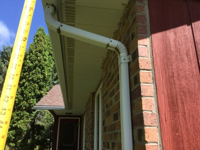 LeafGuard gutters installed in Bonduel
