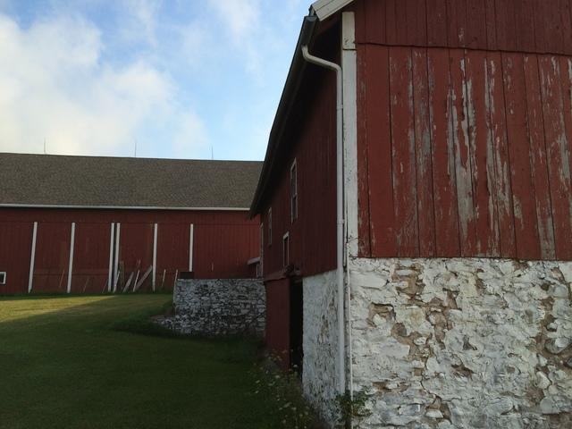 LeafGuard Gutters Installed on a Barn in Sturgeon Bay