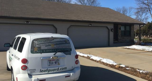 LeafGuard Gutters installed in Green Bay