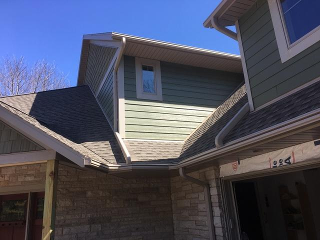New Home LeafGuard Gutter Installation in Oshkosh