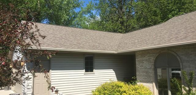 LeafGuard Gutters (color Tan) Chosen by Homeowner in Appleton, WI