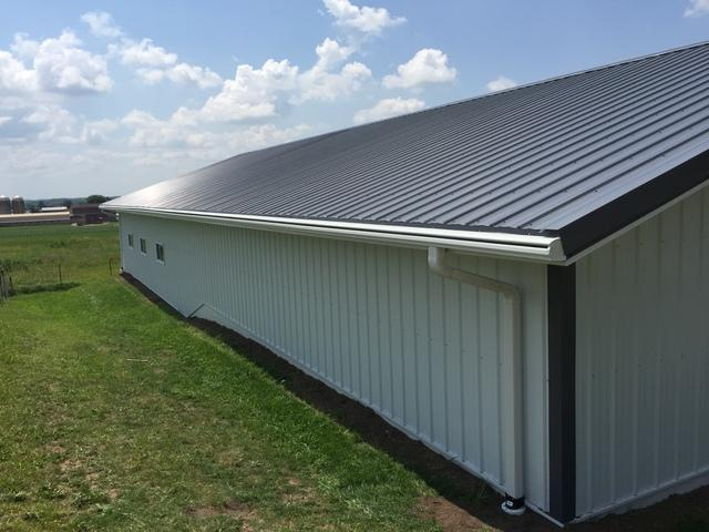 LeafGuard Gutters Installed on a Barn in Forestville, WI