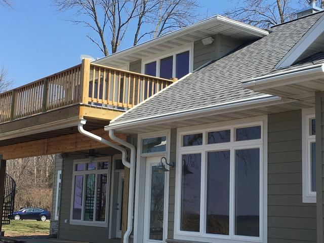 New Construction Home in Luxemburg Chooses LeafGuard Gutters