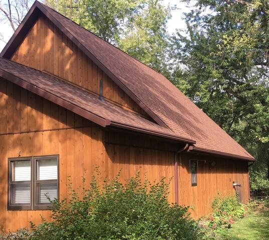 Brown LeafGuard Gutters installed in New London, WI