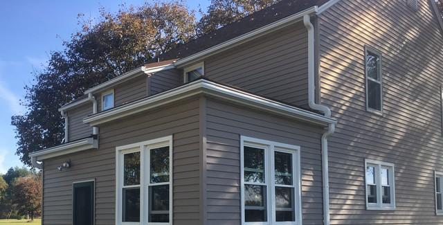Difficult to Reach Gutters Replaced with LeafGuard in Fremont, WI