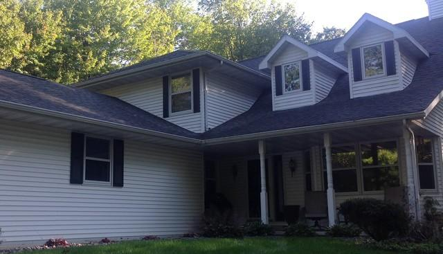 LeafGuard  Gutters Installed on a Home in Sobieski, WI