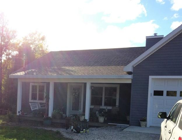 White LeafGuard Gutters Installed in Sister Bay, WI