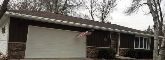 LeafGuard Gutters Replace Open Style Gutters on this Oshkosh, WI Home