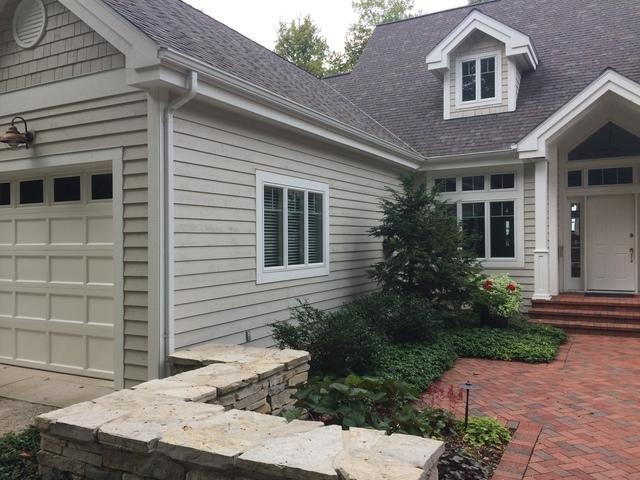 Maintenance Free LeafGuard Gutters Installed on a Lake Home in Sister Bay, WI