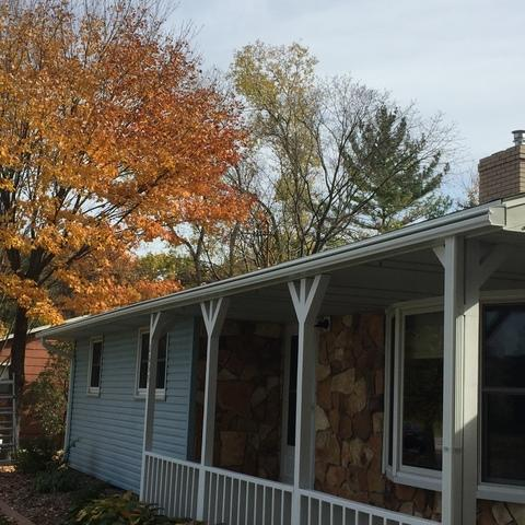 New LeafGuard Gutters Look Great on a Ranch in Green Bay