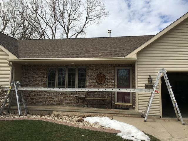 LeafGuard Gutters - Color Wicker - Installed on a Home in Oskhosh, WI