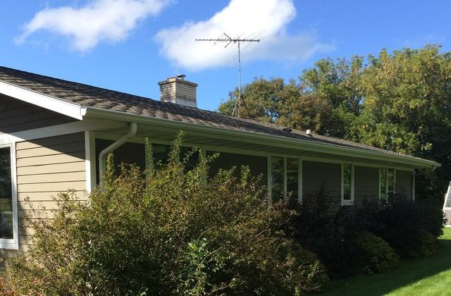 New LeafGuard Gutters Installed on a Home in Brussels, WI
