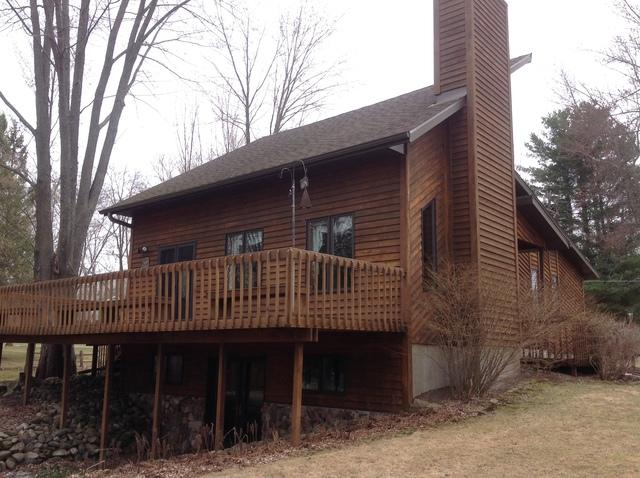 New Musket Brown LeafGuard Gutters Installed on a Home in Merrill,WI