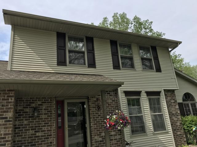 LeafGuard Gutters - Color Clay - Installed on a Two Story Home in Green Bay, WI