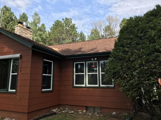 LeafGuard No-Clog Gutters Installed on a Lake Home in Elcho, WI