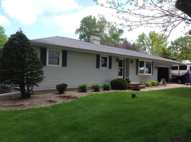 White LeafGuard Gutters Installed on a Home in Neenah, WI