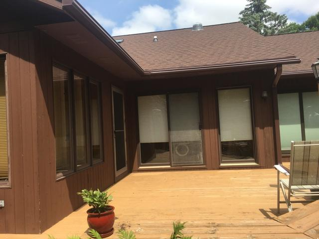 Brown LeafGuard Gutters Installed on a Home in Green Bay, WI