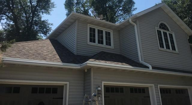 Two Story Home in Berlin, WI has LeafGuard Gutters installed
