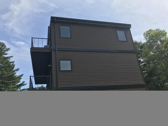 LeafGuard - Color Musket Brown - Installed on a Lake Home in Marinette, WI