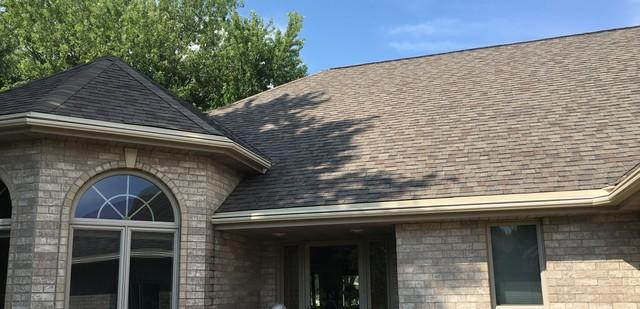 LeafGuard Gutters - Color Wicker - Installed on a Ranch Style Home in Appleton, WI