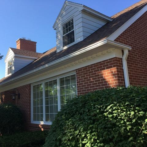 White LeafGuard Gutters Installed in Green Bay, WI