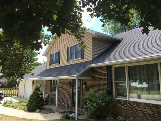 LeafGuard Gutters Installed on a Two Story Home in Marshfield, WI