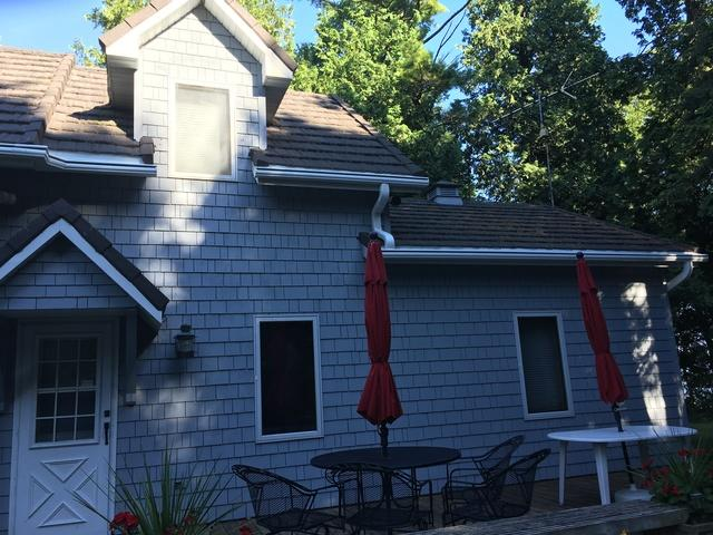 LeafGuard Gutters Installed on a Lake Home in Baileys Harbor, WI
