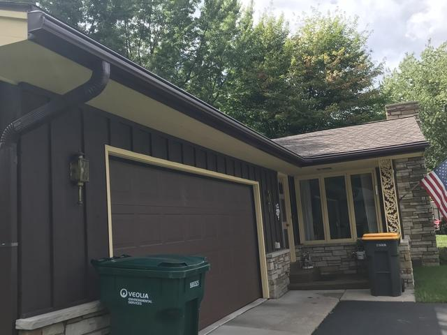 LeafGuard gutters installed on home in Weston Wisconsin