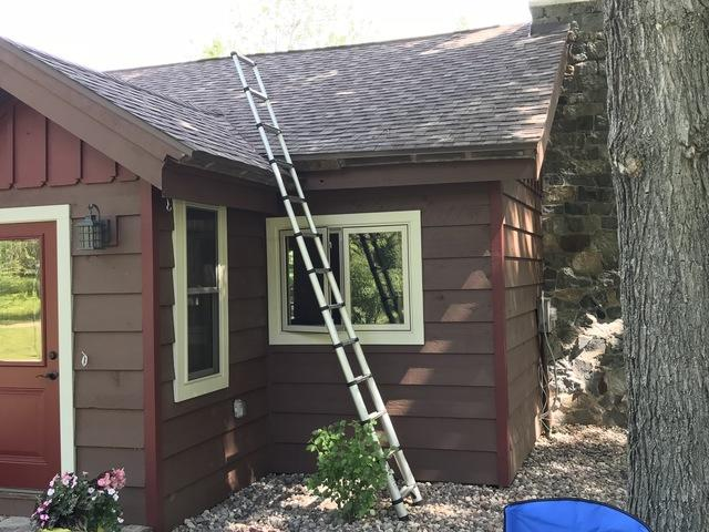 LeafGuard gutters installed on home in Rhinelander, Wisconsin