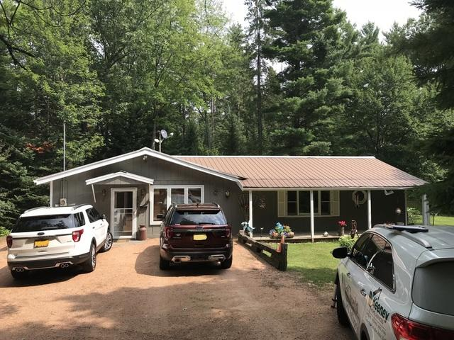 LeafGuard gutters installed on home in Tomahawk, Wisconsin