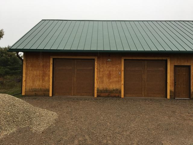 LeafGuard gutter installed on garage in Pembine, Wisconsin